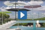 Kundenanwendung: Gasfeder in raffiniertem Sonnenschirm