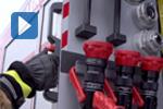 Handgriff mit Mehrpunktvrriegelung in Feuerwehrfahrzeug