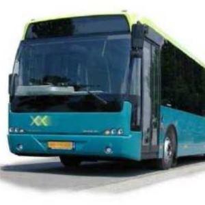 Flacher Handgriff in Businterieur