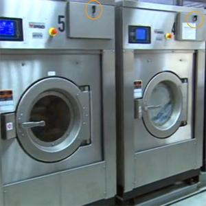Hebelverschluss in Industriewaschmaschine