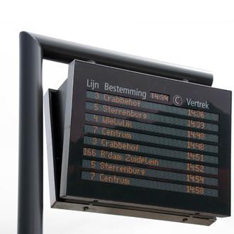 Schnappverschluss mit Druckknopf in einem Informations-Display