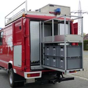 Linearführungen in Feuerwehrfahrzeug