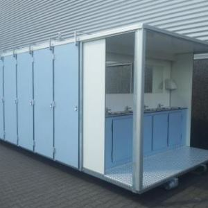 Federscharniere Aluminium in mobilen Toiletten