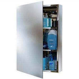 Verborgener Panelverschluss in einem Spiegelschrank