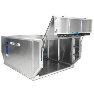 Stangenscharniere Aluminium in Luftfrachtcontainer