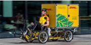 Paketzustellung mit Elektrofahrrad