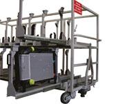 Schienen Lagerung und Logistik