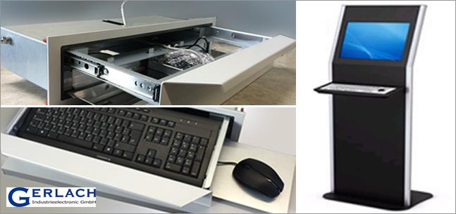 Teleskopschienen für Tastatureinschübe