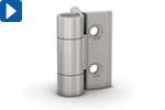 Federscharniere Aluminium, leichte Federkraft < 0,2 Nm