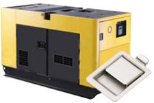 Flacher Griff-Verschluss (64) im Generator