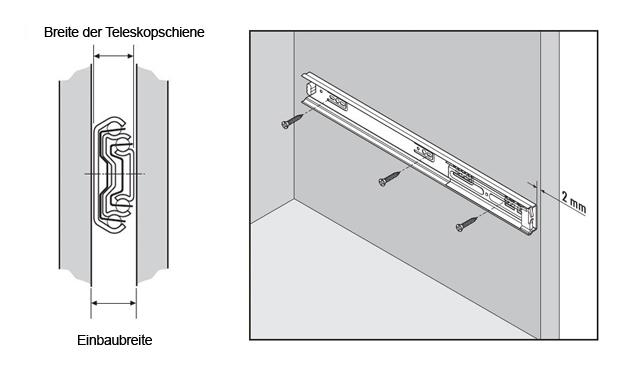 Teleskopschiene Zeichnung
