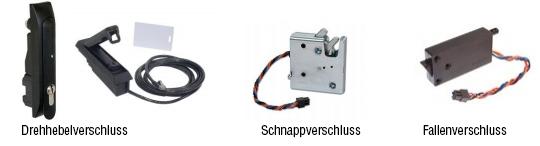 Verschiedene Modelle elektromechanische Verschlüsse